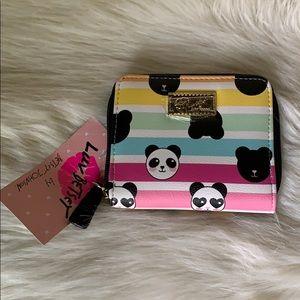 Betsey Johnson Zipper Wallet-Panda Stripes NWT